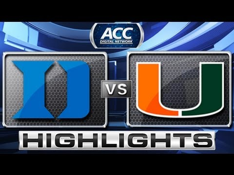 Duke vs Miami Basketball Highlights 1/23/13
