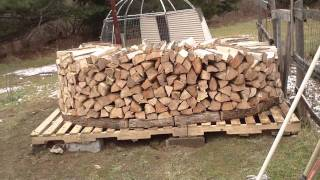 part two building a holz hausen (wood house)