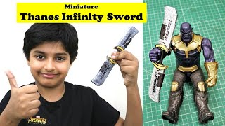 I made Miniature Infinity Sword for my Thanos Action Figure | DIY Avengers Endgame Cardboard Craft
