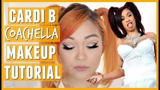 Cardi B Coachella 2018 Inspired Makeup Tutorial (Neutral GLAM Look)