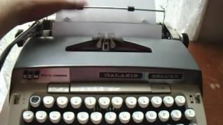 Smith Corona Galaxie Deluxe Typewriter