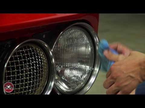 How To 1969 Alfa Romeo GTV Chrome Bumper & Grill Polish Chemical Guys Light Metal Polish