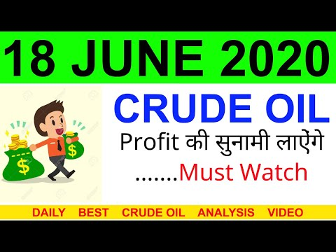 Crude oil complete analysis for 18 JUNE 2020 | crude oil strategy | intraday strategy for crude oil
