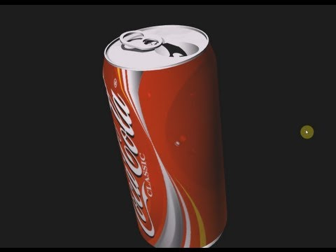 Lightwave Tutorial for beginners Creating a 3D Coke Can [Full HD]