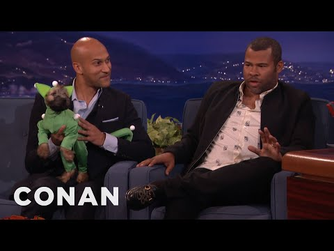 "Keegan-Michael Key & Jordan Peele's Cat Was Full CGI In ""Keanu""  - CONAN on TBS"