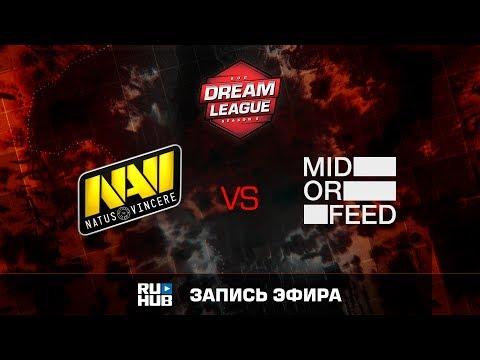 Natus Vincere vs Mid Or Feed, DreamLeague Season 8, game 1 [V1lat, DeadAngel]