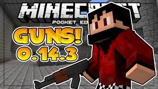 NEW 0.14.3 SERVER // THE BEST GUN IN MCPE! // QuakeCraft Minigame - Minecraft PE (Pocket Edition)