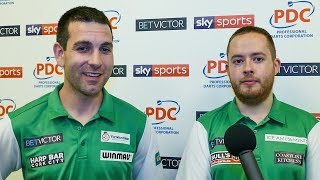 Steve Lennon and William O'Connor - Team Republic of Ireland through to the Qtr finals