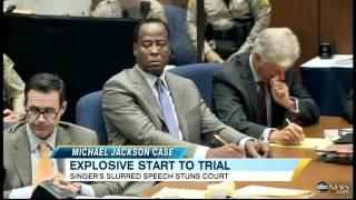michael jackson death photo showed in court slurred speech apparent in audio