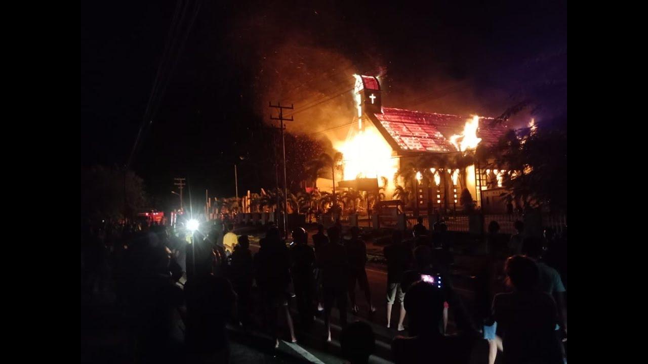 Video Gereja Imanuel Di Halmahera Utara Terbakar Kieraha
