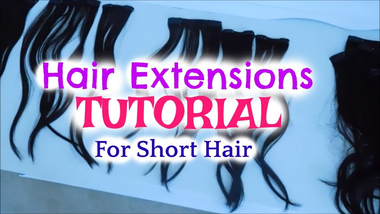 My hair extensions tutorial easy clip ins for short hair youtube my hair extensions tutorial easy clip ins for short hair pmusecretfo Images