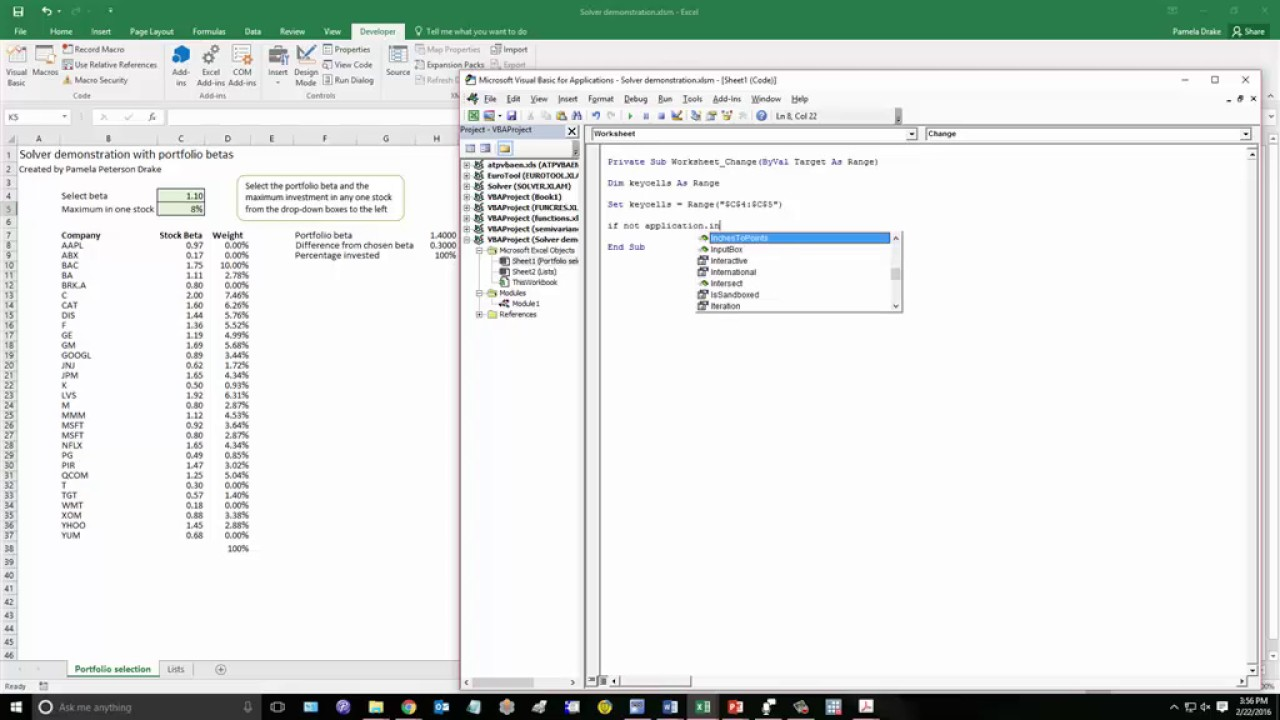 using solver in an excel macro part 3 or 3