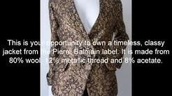 Balmain black and gold jacket