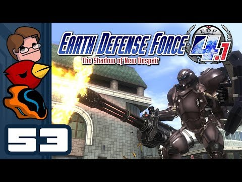 Let's Play Earth Defense Force 4.1 The Shadow of New Despair - Part 53 - Someone Call Godzilla!