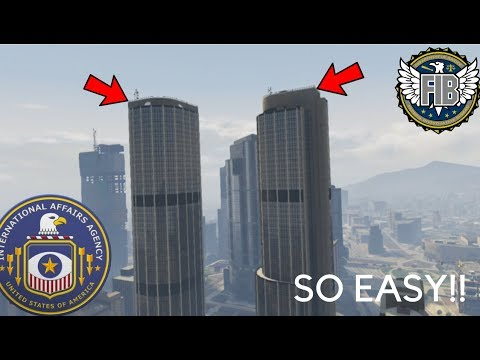 GTA 5 ONLINE || How To Get Into The FIB And IAA Buildings!!!