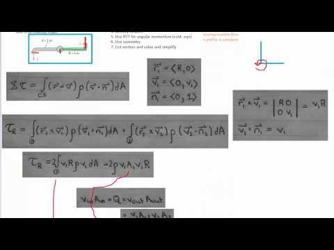 Reynolds Transport Theorem - Angular Momentum - Example 1