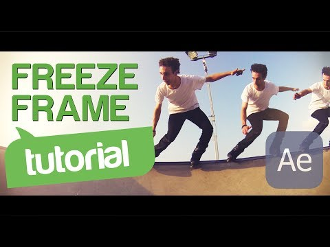 Tutorial: Freeze Frame Effect (panning out of shot) - After Effects