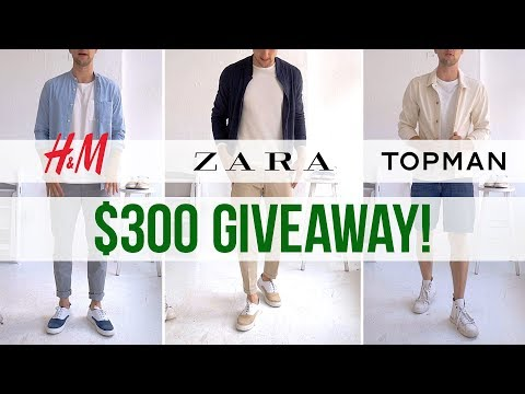 $100 Challenge at H&M, Zara & Topman | 3 Men's Outfits on a Budget | Sale Shopping