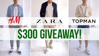 $100 Challenge at H&M, Zara & Topman | 3 Men