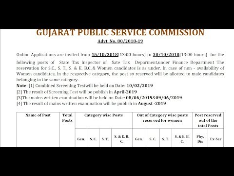 Tax Inspector Vacancy 2018-19 // Tax Inspector Recruitment 2018-2019//latest job alerts