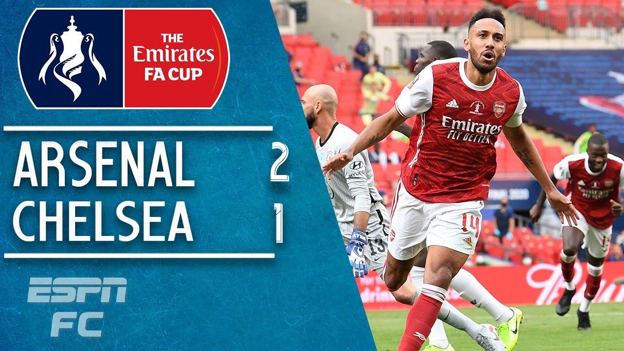 Arsenal lift 14th FA Cup but Aubameyang drops it