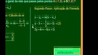 Matemática - Aula 56 - Geometria Analítica - Equação do Feixe de Retas Não Verticais - Parte 1