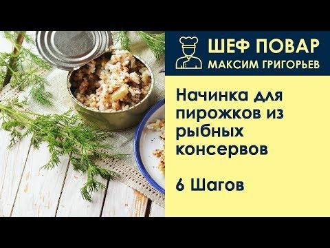Начинка для пирожков из рыбных консервов . Рецепт от шеф повара Максима Григорьева