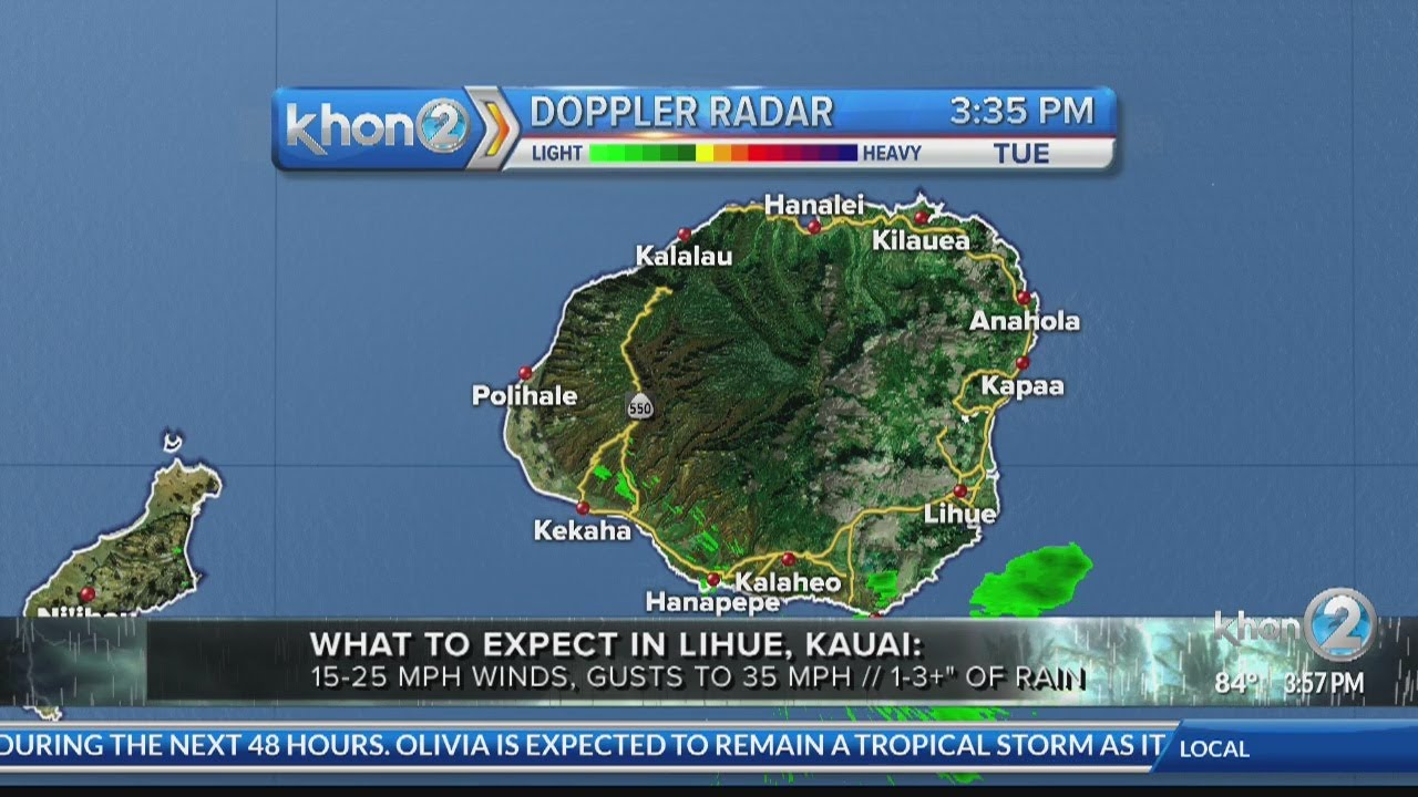 What to expect on Kauai from Tropical Storm Olivia (9/11 at 4:00 update)