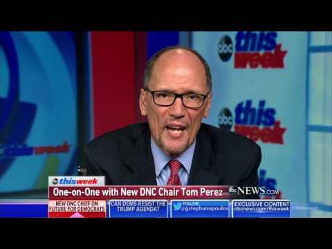 Tom Perez Thinks Hillary Clinton Should Run For President In 2020