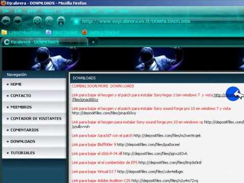 Como bajar archivos atravez de links de descarga.wmv