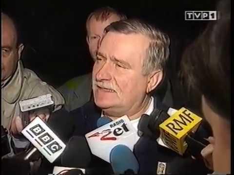 01.10.1996 Wałęsa: To prowokacja UOP. Chcemy do UE. Poduszkowiec w armii