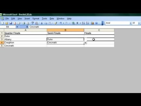 How to Make a Bracket on Microsoft Excel : Microsoft Office Software