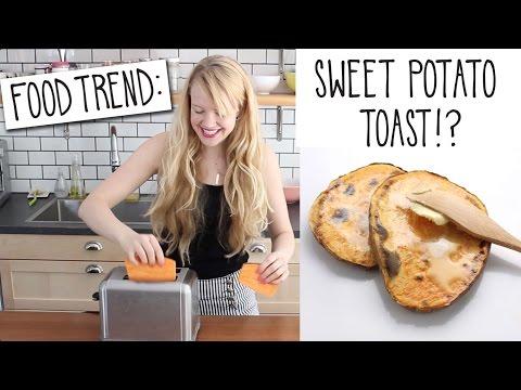 Sweet Potato Toast Food Trends!?