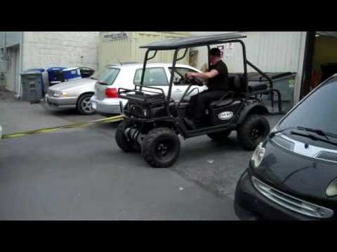 Bad Boy Buggy xt can pull cars into repair shops all electri