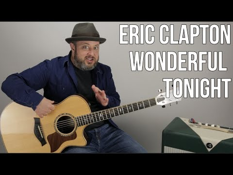 "Eric Clapton ""Wonderful Tonight"" Guitar Lesson (Easy Acoustic)"