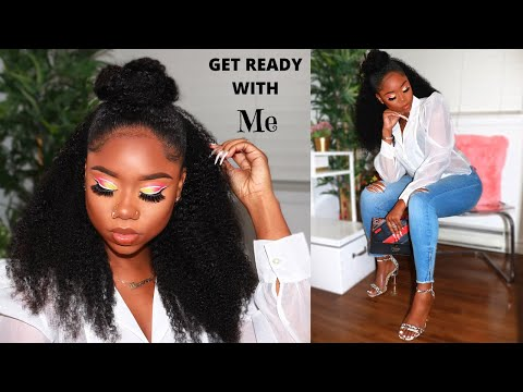 3-in-1-quick-protective-style-for-natural-hair-|-neon-makeup-tutorial-|-classy-chic-outfit