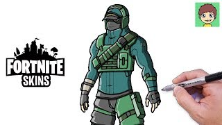 How to draw Fortnite REFLEX Walkthrough Easy-drawing to draw Fortnite Skins