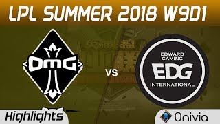 omg vs edg highlights game 2 lpl summer 2018 w9d1 oh my god vs edward gaming by onivia