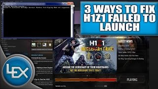 "3 WAYS - HOW TO FIX H1Z1 FAILED TO LAUNCH 2016 (""Failed to initialize BattlEye Service..."")"