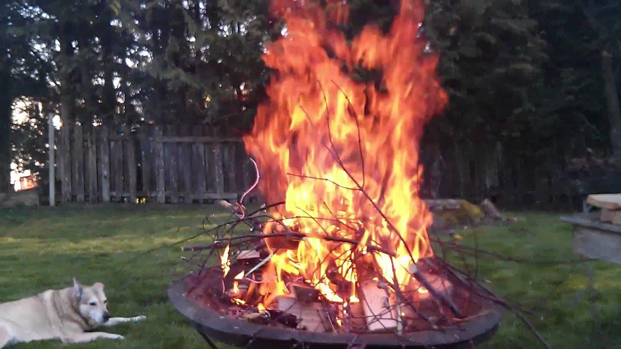 roaring backyard bonfire youtube. Black Bedroom Furniture Sets. Home Design Ideas