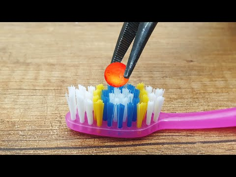 EXPERIMENT MINI METAL BALL 1200 Degree vs Toothbrush