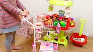 メルちゃん ショッピングカートでお買い物ごっこ/Supermarket Fun! Mell-chan and the Shopping Cart Toy