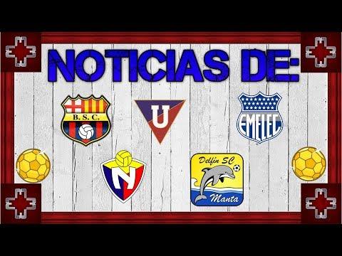 Noticias de Barcelona, LDU, Emelec, Nacional y Delfín - Fútbol Ecuatoriano