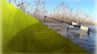 Рыбалка по первому льду на озере Таволжан. Зимняя рыбалка 2014-2015 на карася..