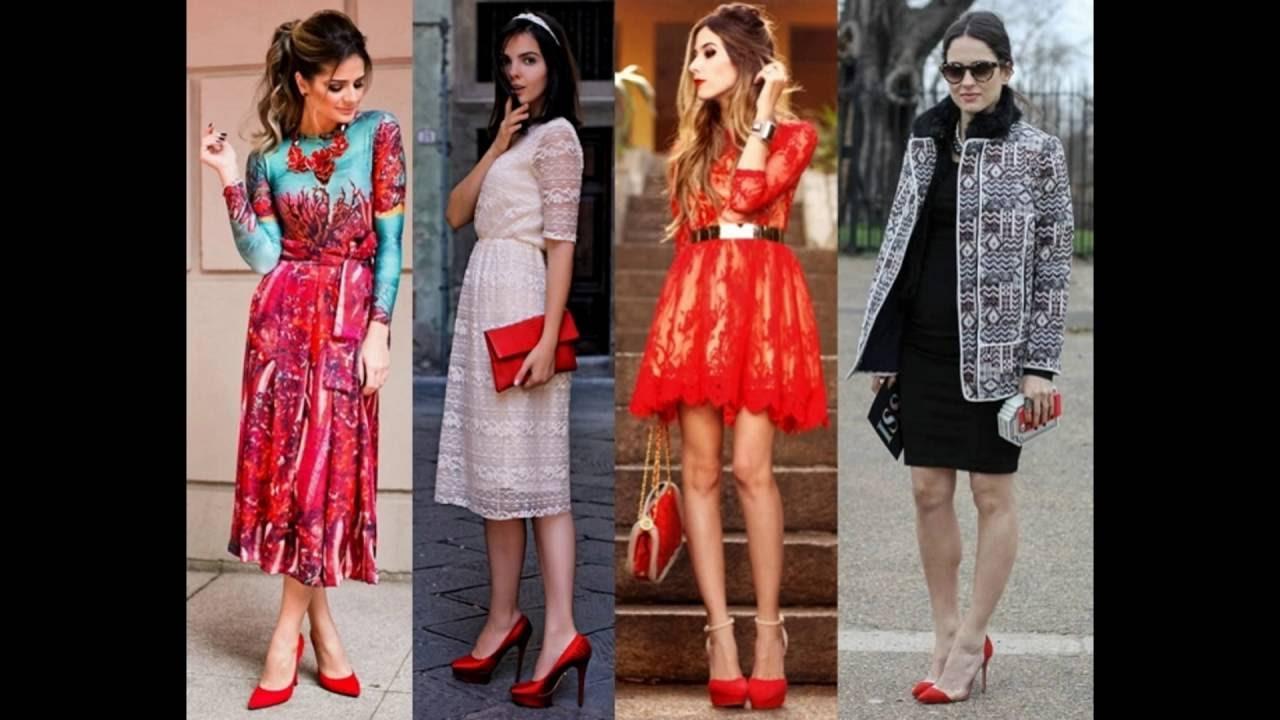 1ceada699 Looks e Vestidos Com Sapato Vermelho Para Ficar na Moda - YouTube