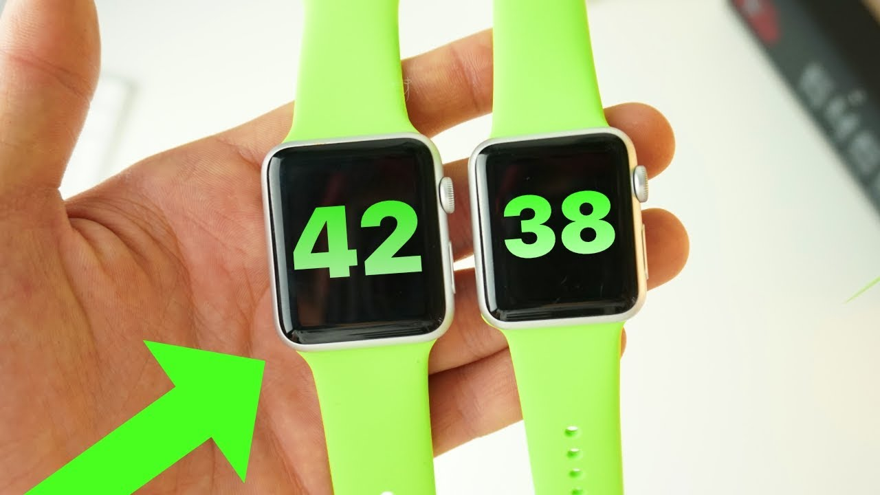 Apple Watch 38mm vs 42mm: the ONE to buy