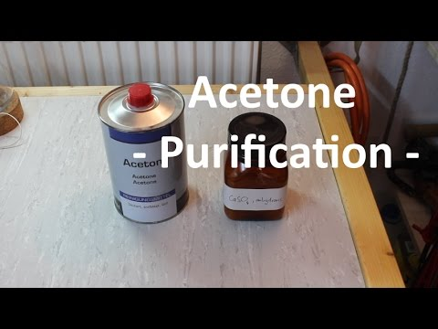 Purification And Drying: Acetone