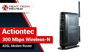 Actiontec 300 Mbps Wireless N ADSL Modem Router Product Review  – NTR