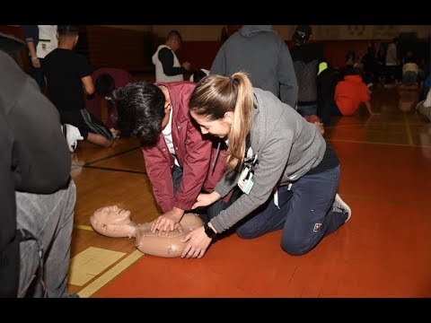 RUSD Gives CPR Training At Poly High School and Around The District