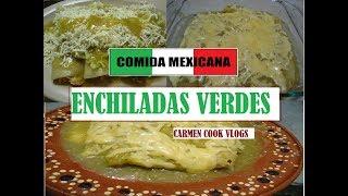 ENCHILADAS VERDES GRATINADAS | Carmen Cook Vlogs
